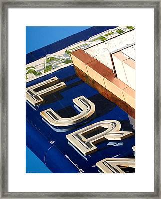 Furn Framed Print by Rob De Vries