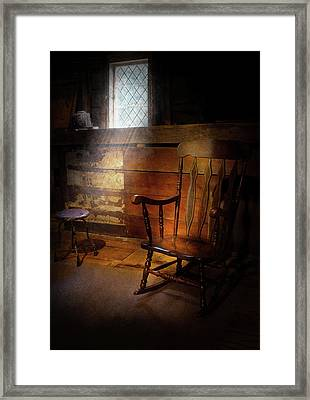 Furniture - Chair - Forgotten Memories  Framed Print by Mike Savad