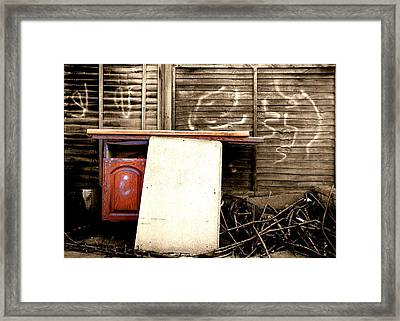 Selective Coloring Framed Print featuring the photograph Furniture by Roberto Alamino