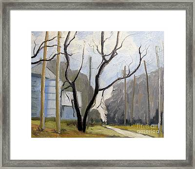 Furrowed Hill Farm Framed Framed Print by Charlie Spear