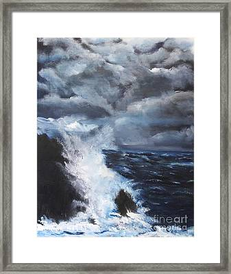 Fury Framed Print by Chaline Ouellet