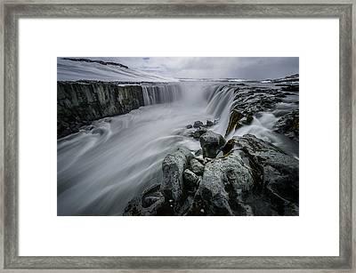 Fury Of Water Framed Print by Pierre Destribats