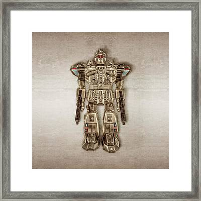 Future Cop Robot Framed Print by YoPedro