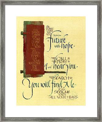 Future Hope I Framed Print by Judy Dodds