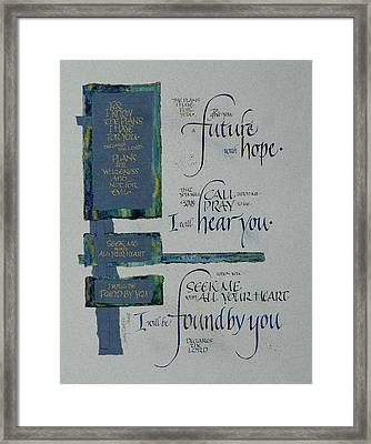 Future Hope II Framed Print by Judy Dodds