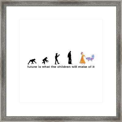 Future Is What The Children Will Make Of It Framed Print by Murielle Sunier