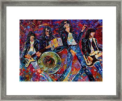 Ramones Gabba Gabba Hey Framed Print by Debra Hurd