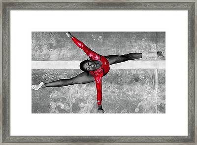 Gabby Douglas Framed Print by Brian Reaves