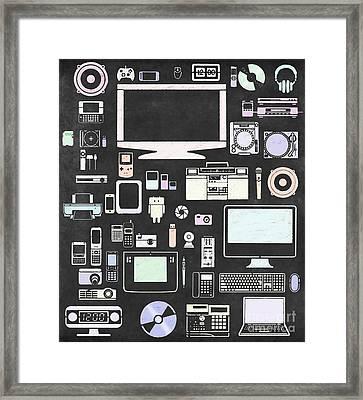 Gadgets Icon Framed Print by Setsiri Silapasuwanchai