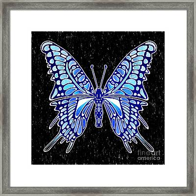 Galactic Butterfly Framed Print by Kasia Bitner