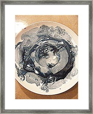 Galactic China Pattern Framed Print by Nancy Kane Chapman