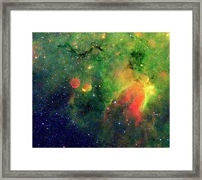 Galactic Snake In Infrared Milky Way Framed Print by Mark Kiver