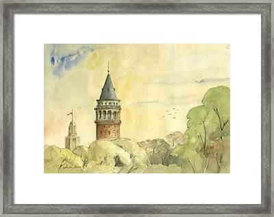 Galata Tower Istanbul Framed Print by Juan Bosco