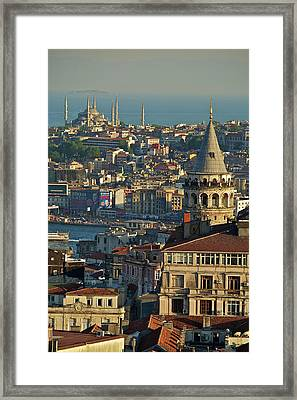 Galata Tower Framed Print by Photo by Bernardo Ricci Armani