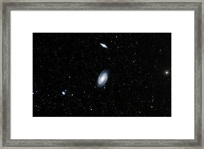 Galaxies M81 And M82 Framed Print by Davide De Martin