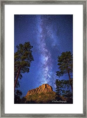 Galaxy Rising Framed Print by Theresa Rose Ditson