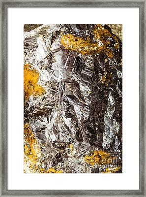 Galena Metallic Ore Closeup Framed Print by Jorgo Photography - Wall Art Gallery