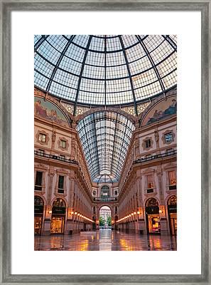 Galleria Milan Italy Framed Print by Joan Carroll