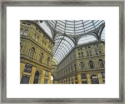 Galleria, Napoli- Italy Framed Print by Italian Art