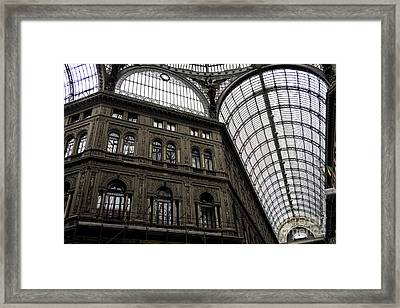Galleria Umberto Design Framed Print by John Rizzuto