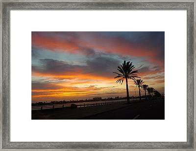 Galveston Sunrise Framed Print by Robert Anschutz
