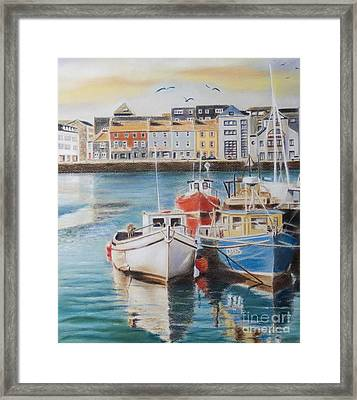 Galway Harbour Framed Print by Vanda Luddy