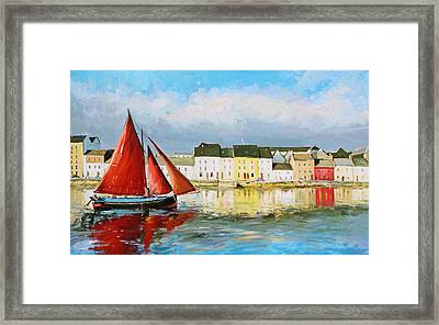 Galway Hooker Leaving Port Framed Print by Conor McGuire