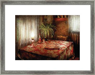 Game - Checkers - Checkers Anyone Framed Print by Mike Savad