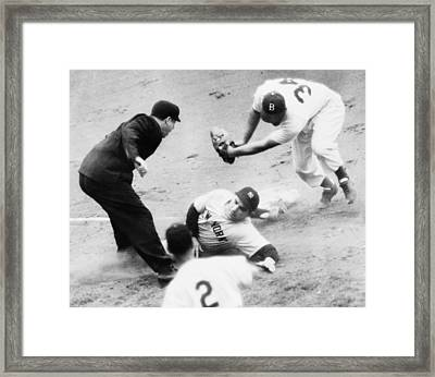Game Four Of The 1949 World Series Framed Print by Everett