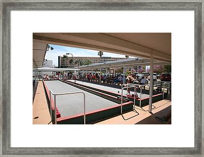 Game In Play Framed Print by Mike Willett