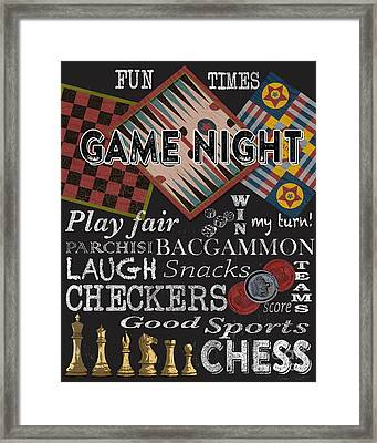 Game Night-jp3500 Framed Print by Jean Plout