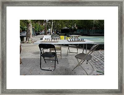 Game Of Chess Anyone Framed Print by Terry Wallace