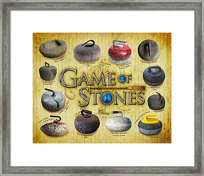 Game Of Stones Framed Print by Chris Rhynas