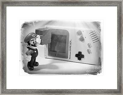 Gameboy First Edition Gray Handheld System Framed Print by Stefano Senise