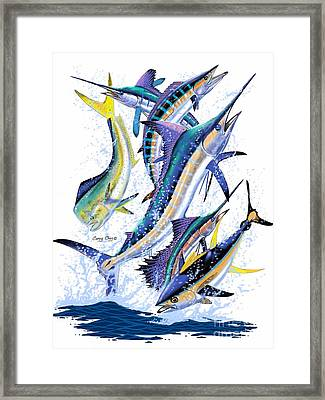 Gamefish Digital Framed Print by Carey Chen