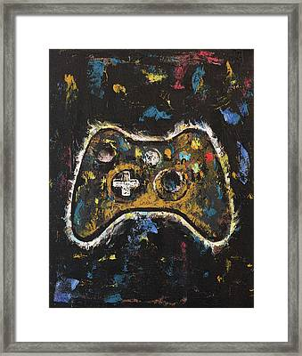 Gamer Framed Print by Michael Creese