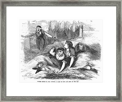 Games: Hide And Seek, 1887 Framed Print by Granger