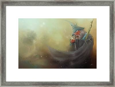 Gandalf Pipe Weed Framed Print by Joe Gilronan