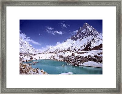 Gandharva Tal And Mount Shivaling Framed Print by Sam Oppenheim