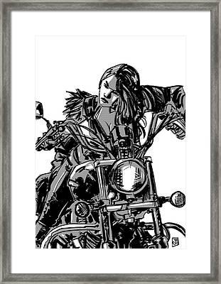 Gang Girl Framed Print by Giuseppe Cristiano