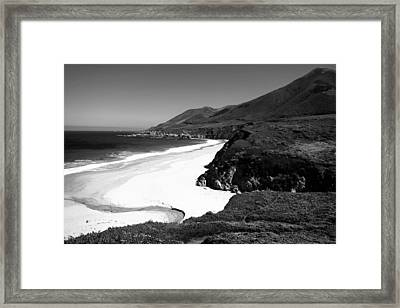 Garapata Peace In B And W Framed Print by Joyce Dickens