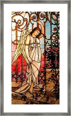 Garden Angel Framed Print by Kristin Elmquist