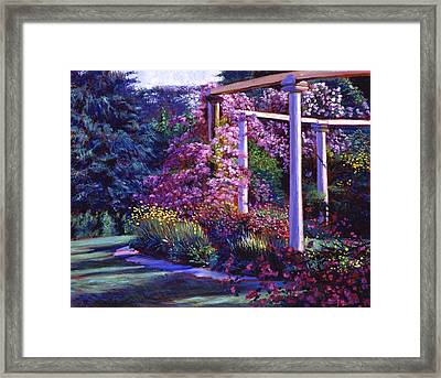 Garden Arbor Framed Print by David Lloyd Glover