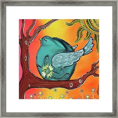 Garden Bird Framed Print by Laura Barbosa