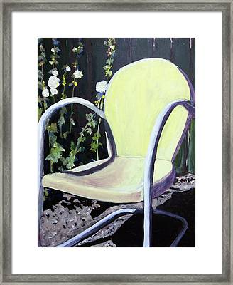 Garden Chair Framed Print by Debbie Phillips Conejo