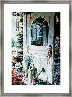 Garden Chores Framed Print by Hanne Lore Koehler