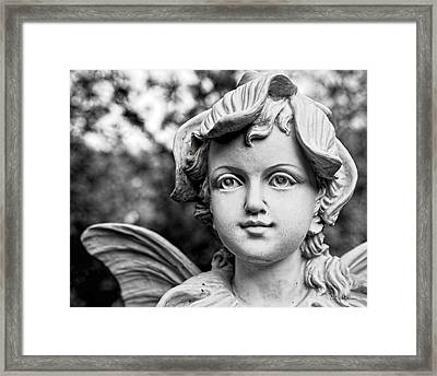 Garden Fairy - Bw Framed Print by Christopher Holmes