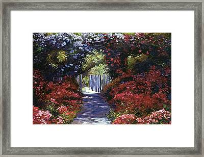 Garden For Dreamers Framed Print by David Lloyd Glover