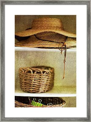 Garden Hats Framed Print by Rebecca Cozart