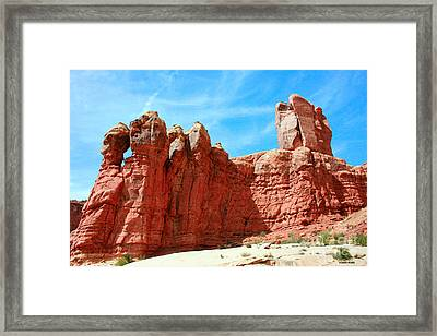 Garden Of Eden Arches National Park, Utah Usa Framed Print by Corey Ford